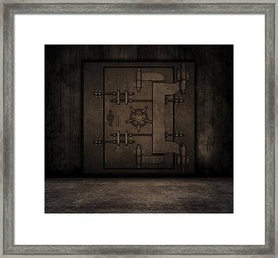 Grunge Interior With Bank Vault Framed Print by Kirsty Pargeter