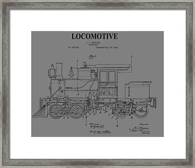Grunge Locomotive Framed Print