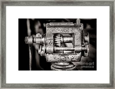 Grunge Machine Framed Print