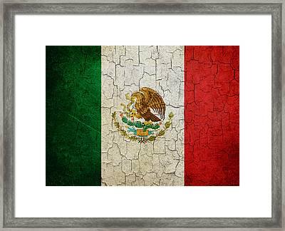 Grunge Mexico Flag Framed Print