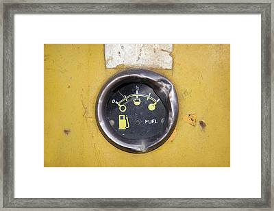 Grunge Petrol Meter Framed Print