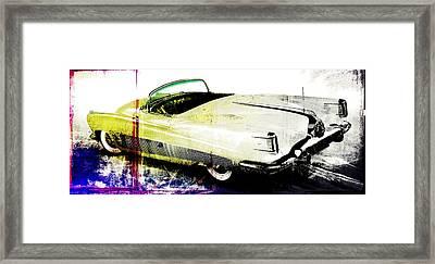 Grunge Retro Car Framed Print by David Ridley