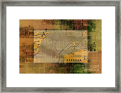 Grunge Technology Background Framed Print
