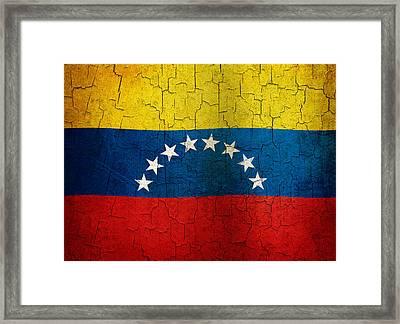 Grunge Venezuela Flag Framed Print