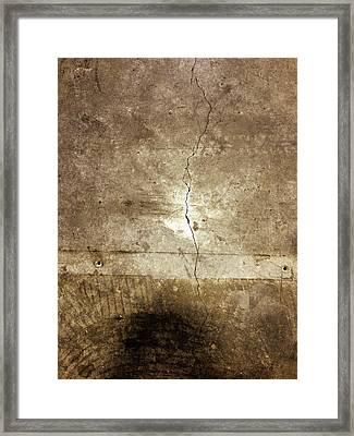 Grunge Wall Framed Print