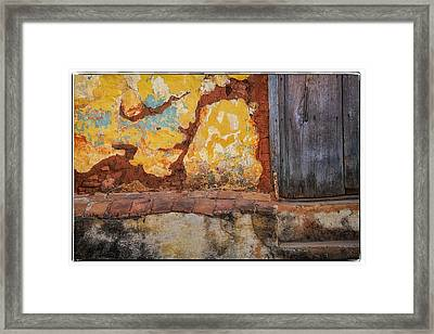 Grunge Wall Framed Print