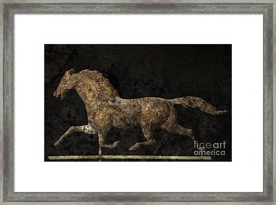 Grungy Antique Weathervane Framed Print by John Stephens
