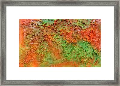 Orange Abstract New Media  Framed Print