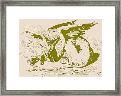 Gryphon Gold Alice In Wonderland Framed Print by