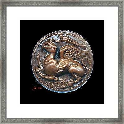 Gryphon Or Griffin Framed Print by Patricia Howitt