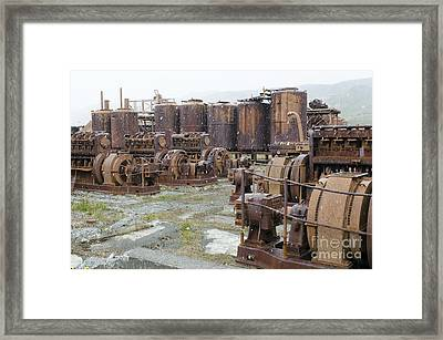 Grytviken Whaling Station, South Georgia Framed Print by Dr P. Marazzi