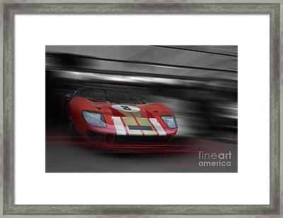 Gt40 Red Framed Print by Roger Lighterness