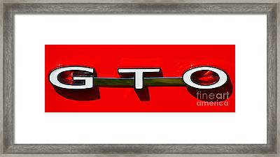 Gto Badge Framed Print