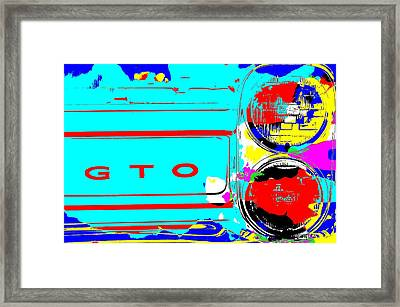 Gto Pop Art Framed Print by Dan Sproul