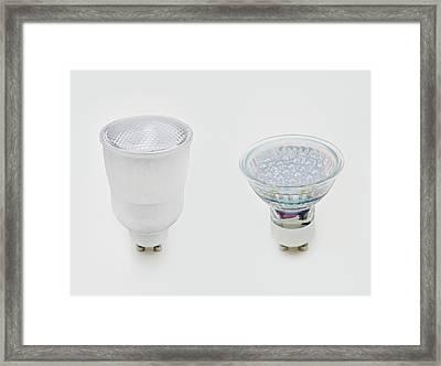 Gu10 Compact Fluorescent Lightbulb Framed Print