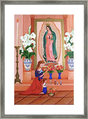 Guadalupe Framed Print by Evangelina Portillo