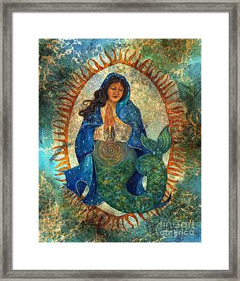 Guadalupe Mermaid Framed Print by Joanna Powell Colbert