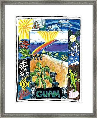 Guam Framed Print by Genevieve Esson