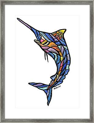 Guam Marlin 2009 Framed Print by Marconi Calindas