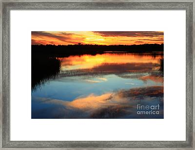 Guana River Sunset Framed Print