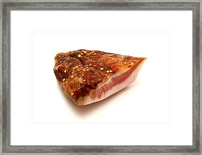 Framed Print featuring the photograph Guanciale by Fabrizio Troiani