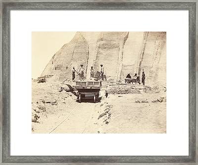Guano Extraction Framed Print by Photography Collection, Miriam And Ira D. Wallach Division Of Art, Prints And Photographs/new York Public Library