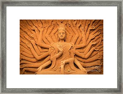 Guanyin Bodhisattva Framed Print by Dean Harte