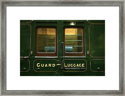 Guard And Luggage Car Framed Print by Paul Williams