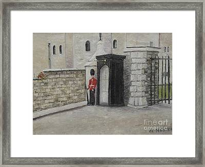 Guard At Windsor Castle Framed Print