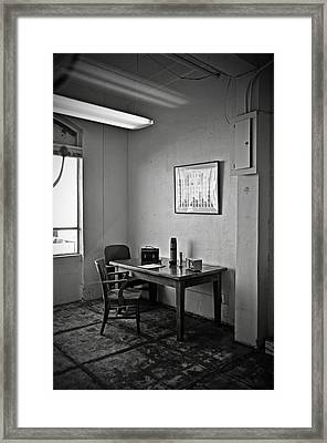 Guard Dining Area In Alcatraz Prison Framed Print by RicardMN Photography