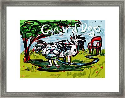 Guard Dog Framed Print