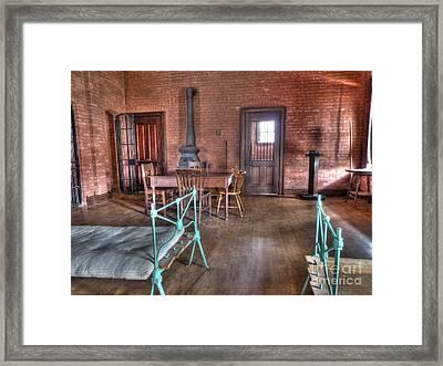 Guard Shack Day Room Framed Print by MJ Olsen