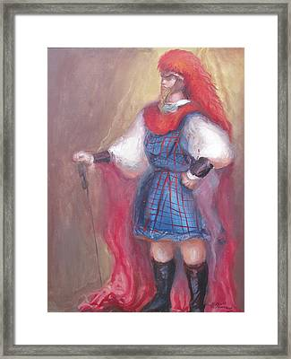 Guard Stance Framed Print by Patricia Kimsey Bollinger