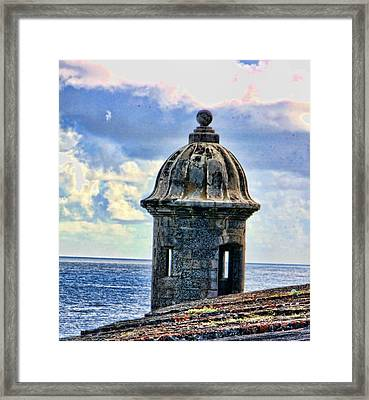 Guard Tower At El Morro Framed Print by Daniel Sheldon
