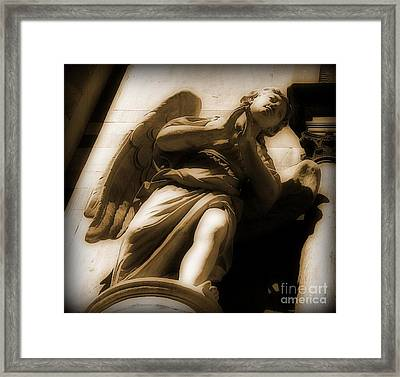 Guardian Above Framed Print by John Malone