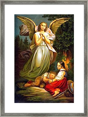 Guardian Angel 1 Framed Print by Unknown