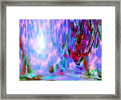 Framed Print featuring the digital art Guardian Angel  by Annie Zeno