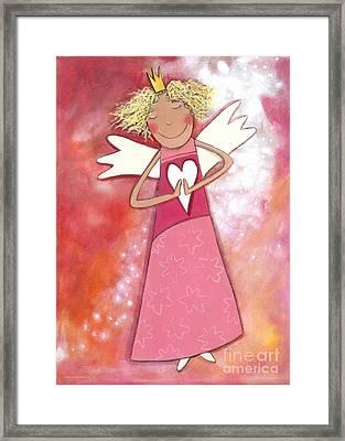 Guardian Angel For Girls Framed Print by Sonja Mengkowski
