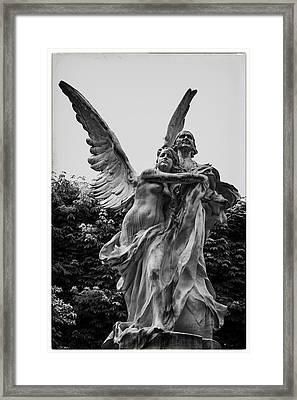 Guardian Angel In Paris Framed Print by Georgia Fowler