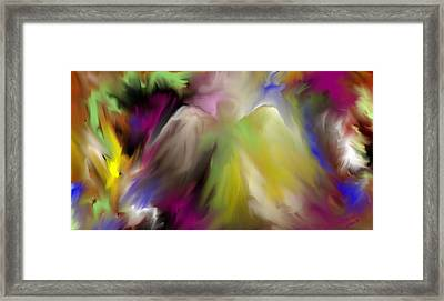 Framed Print featuring the digital art Guardian Angel by Jessica Wright