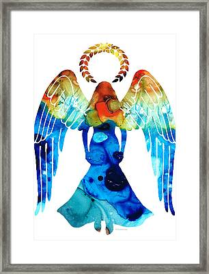 Guardian Angel - Spiritual Art Painting Framed Print by Sharon Cummings