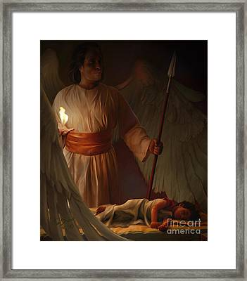 Guardian Angel Framed Print by Tamer and Cindy Elsharouni