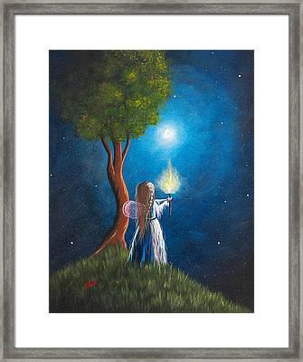 Guardian Of Light By Shawna Erback Framed Print