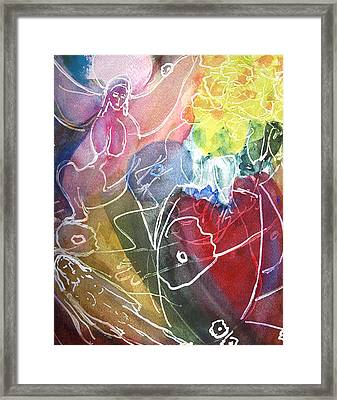 Guardian Of Light Framed Print by Tolere