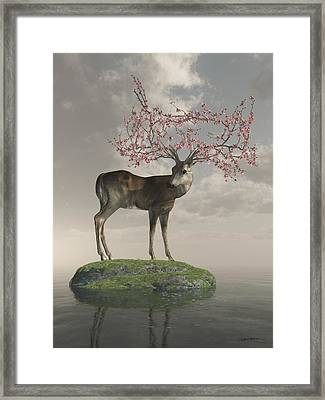 Guardian Of Spring Framed Print by Cynthia Decker
