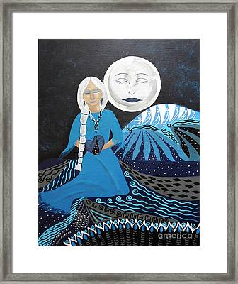 Guardian Of The Dream Time Framed Print