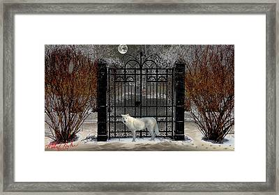 Guardian Of The Gate Framed Print by Michael Rucker