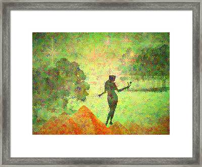 Guardian Of The Oasis Framed Print by Joyce Dickens