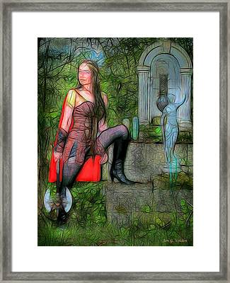 Guardian Of The Shirne Framed Print by Jon Volden