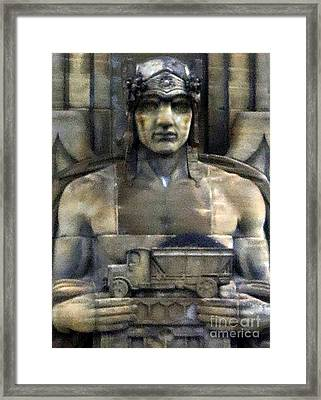 Guardian Of Traffic Framed Print by Patricia Januszkiewicz